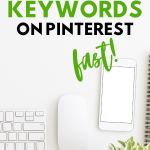 graphic image on how to find keywords on pinterest